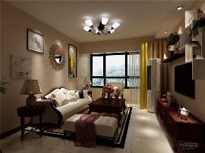美式 两居 墙面漆 挂画 衣帽间 客厅图片来自阳光力天装饰在力天装饰-中信公园城-79㎡-美式的分享