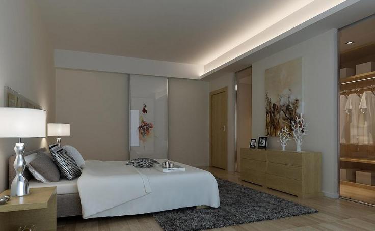 简约 现代 三居 东方广场 峰光无限 卧室图片来自我是小样在东方广场三室130平现代简约风格的分享