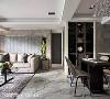 开阔的居家场域,藉由丰富的深浅色相互搭配,塑造空间的立体层次,提升整体设计质感与品味。
