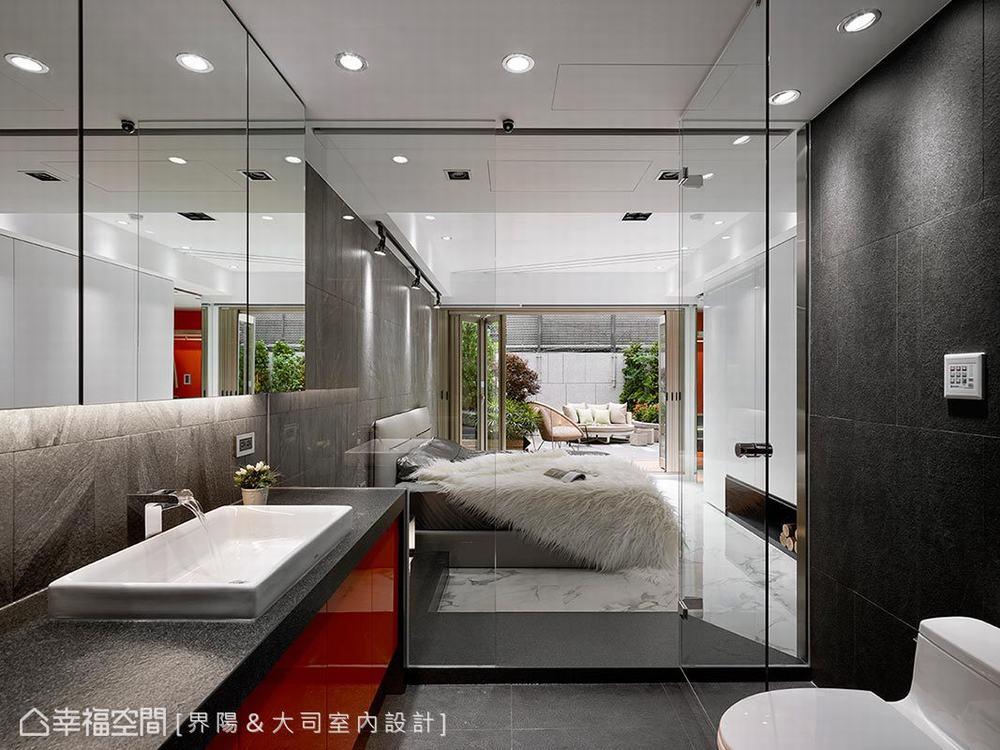 跃层 旧房改造 现代 卧室图片来自幸福空间在317平旧楼变身纽约艺术宅的分享