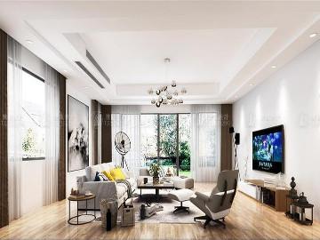 青浦泷湾404平别墅现代风格设计