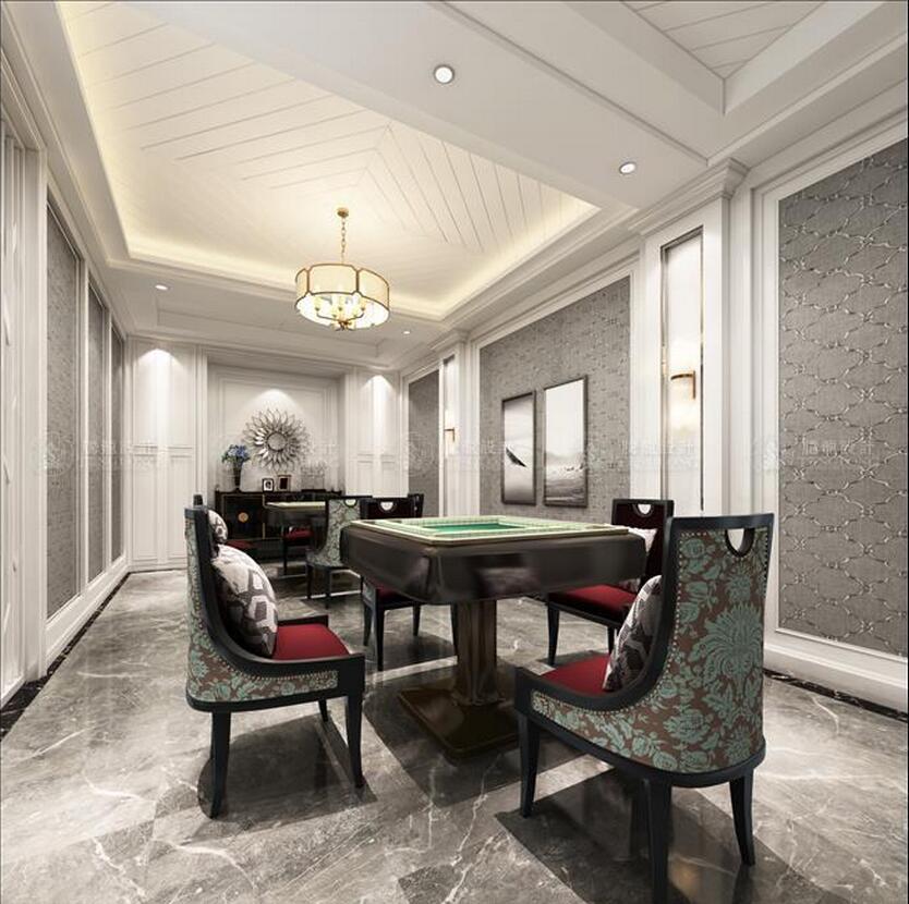琥珀臻园 别墅装修 美式现代 腾龙设计 餐厅图片来自腾龙设计师朱炯在宝山琥珀臻园别墅项目装修设计的分享