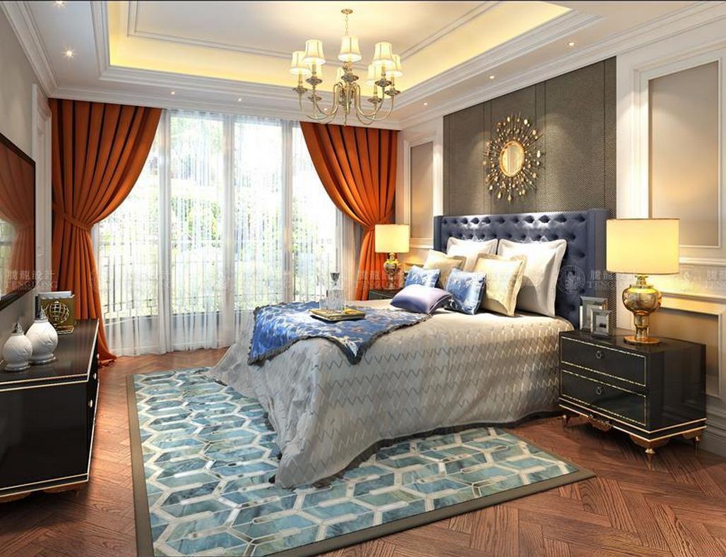 泰晤士小镇 别墅装修 现代简美 腾龙设计 卧室图片来自孙明安在泰晤士小镇244平别墅项目装修的分享