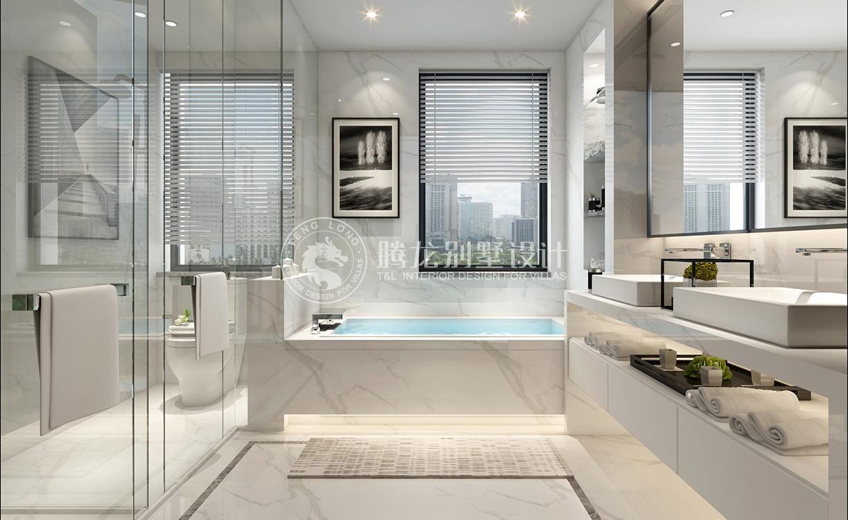 英庭名墅 别墅装修 现代风格 腾龙设计 孔继民作品 卫生间图片来自室内设计师孔继民在英庭名墅400平别墅现代风格设计的分享