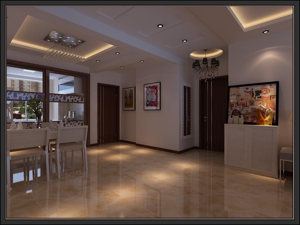 欧式 简约 客厅 厨房 餐厅图片来自柒米装饰在中东凯瑞公馆的分享