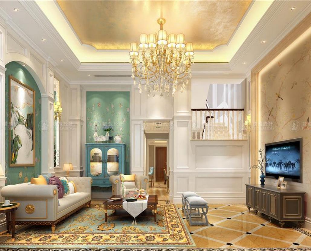 泰晤士小镇 别墅装修 现代简美 腾龙设计 客厅图片来自孙明安在泰晤士小镇244平别墅项目装修的分享