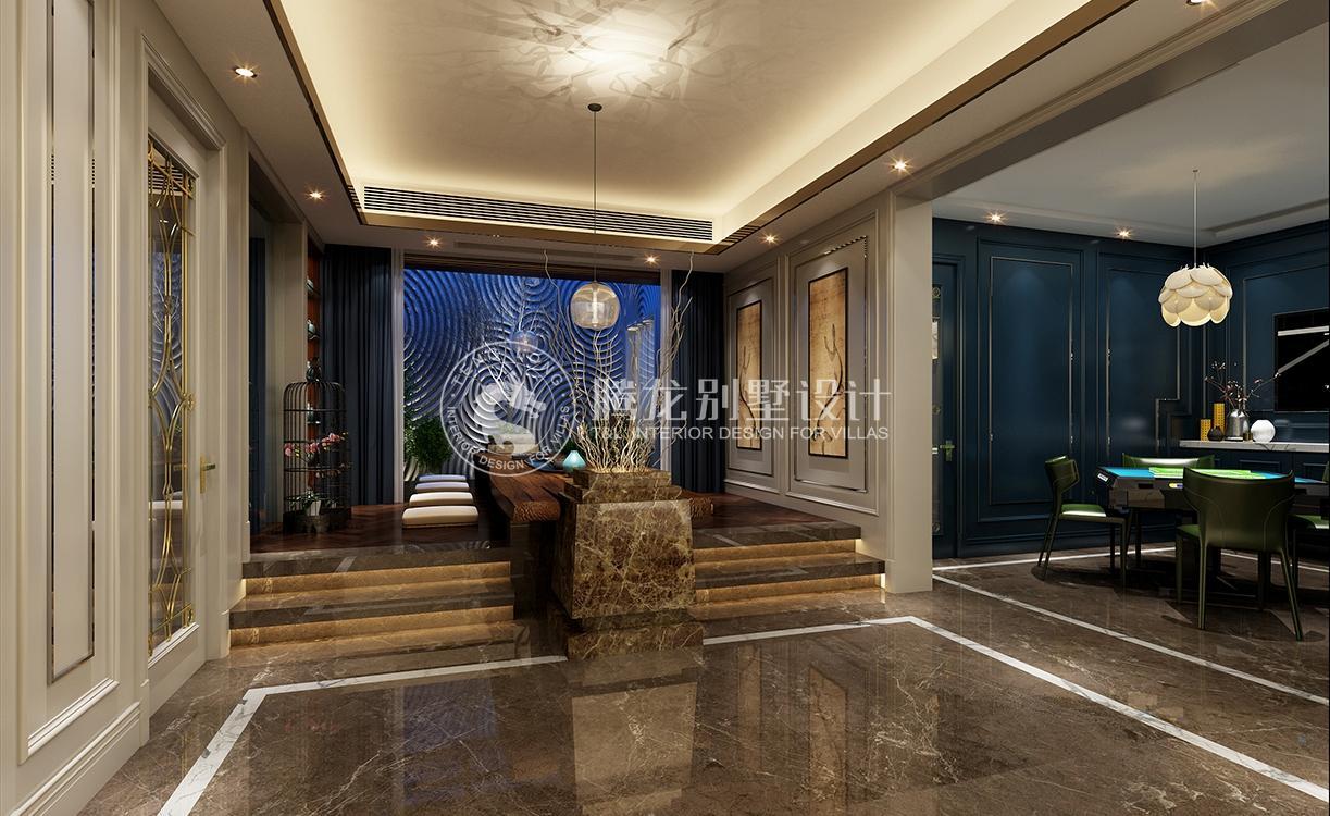 英庭名墅 别墅装修 现代风格 腾龙设计 孔继民作品 客厅图片来自室内设计师孔继民在英庭名墅400平别墅现代风格设计的分享