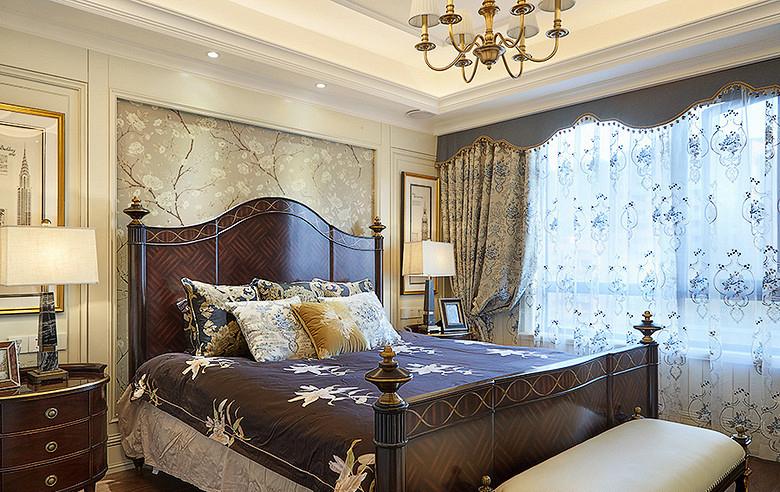 卧室图片来自家装大管家在温馨质感 115平简约美式三口之家的分享