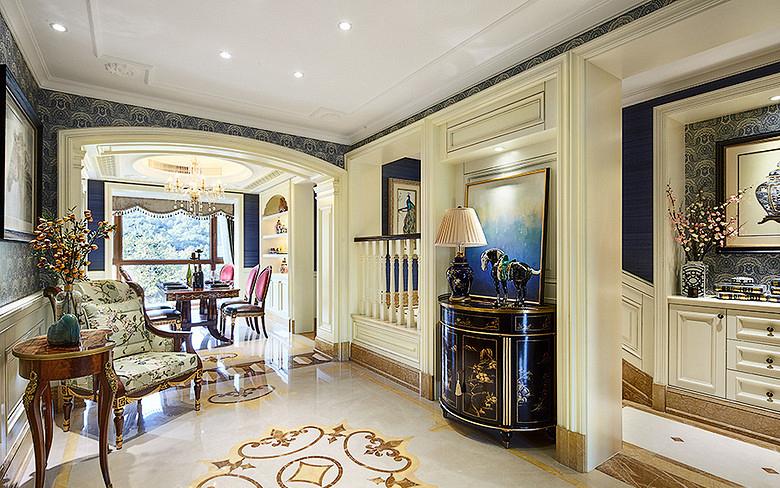 客厅图片来自家装大管家在温馨质感 115平简约美式三口之家的分享