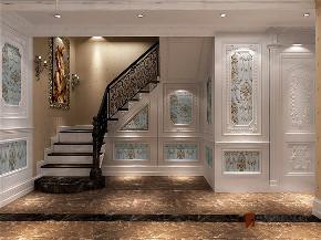 欧式 新古典 别墅 跃层 复式 大户型 高帅富 楼梯图片来自高度国际姚吉智在金科王府200㎡欧式古典轻奢大宅的分享