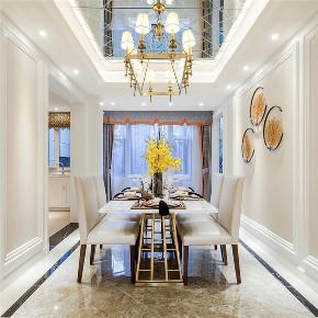 新古典 四居 大户型 复式 跃层 loft 小资 别墅 餐厅图片来自高度国际姚吉智在175平米古典美而不俗的低调高雅的分享