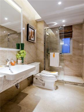 新古典 四居 大户型 复式 跃层 loft 小资 别墅 卫生间图片来自高度国际姚吉智在175平米古典美而不俗的低调高雅的分享