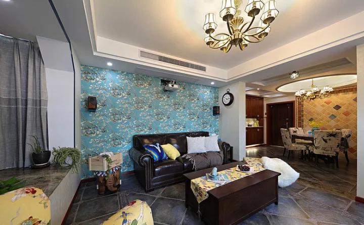 美式 三居 客厅图片来自tjsczs88在106㎡美式雅致风的分享