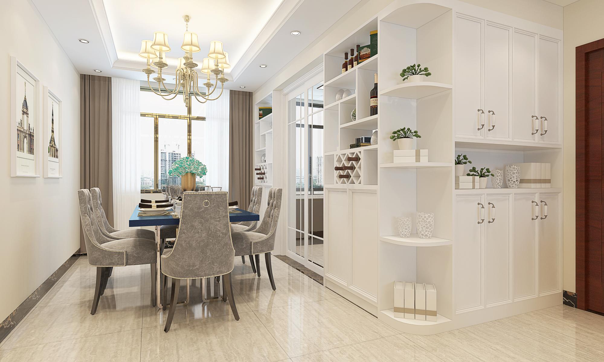 超现代 简约风格 白色调 恒大苹果园 餐厅图片来自广西品匠装饰集团在恒大苹果园超现代风格装修案例的分享