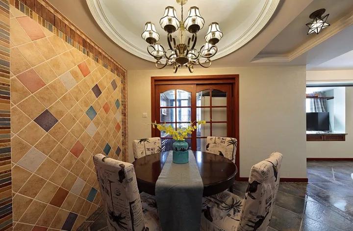 美式 三居 餐厅图片来自tjsczs88在106㎡美式雅致风的分享