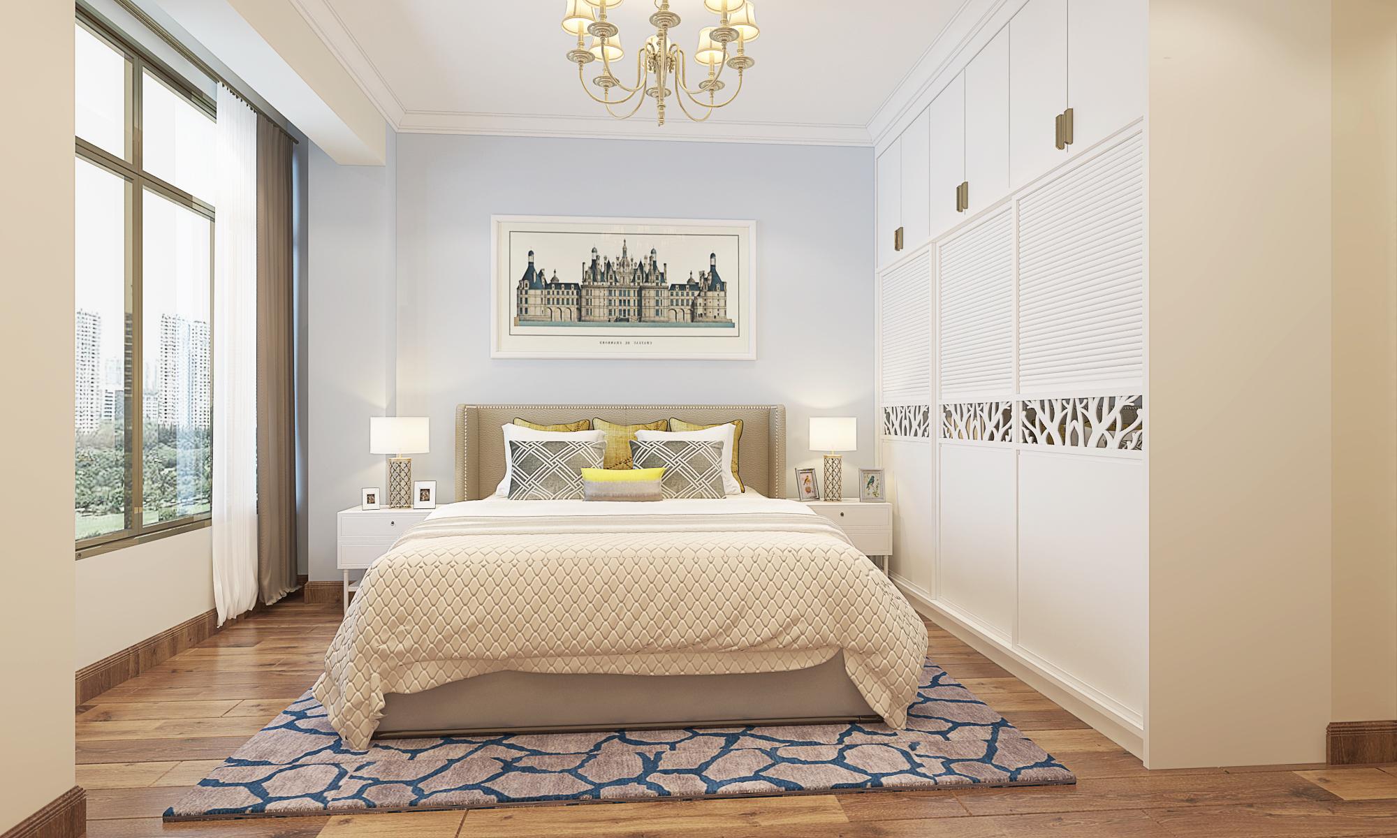 超现代 简约风格 白色调 恒大苹果园 卧室图片来自广西品匠装饰集团在恒大苹果园超现代风格装修案例的分享