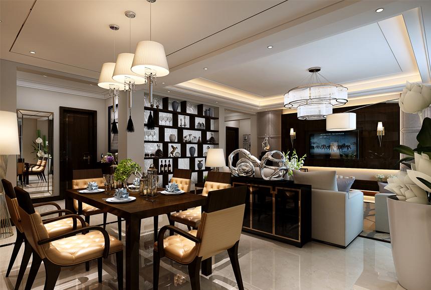 简约 三居 白领 收纳 80后 家居 设计 时尚 装修 餐厅图片来自生活家-月昂在美洲故事156㎡现代风格案例鉴赏的分享