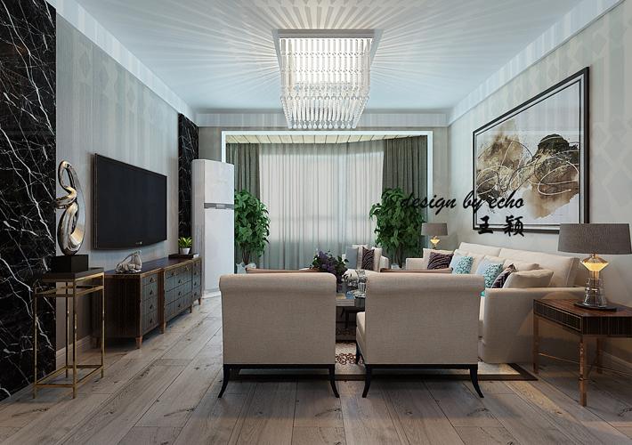 三居 名流公馆 港式风格 客厅图片来自百家设计小刘在名流公馆106平港式风格全包13万的分享