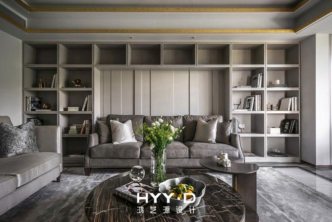简约 别墅 室内设计 客厅 港式轻奢 客厅图片来自郑鸿在都市型格--深圳山语清晖室内设计的分享