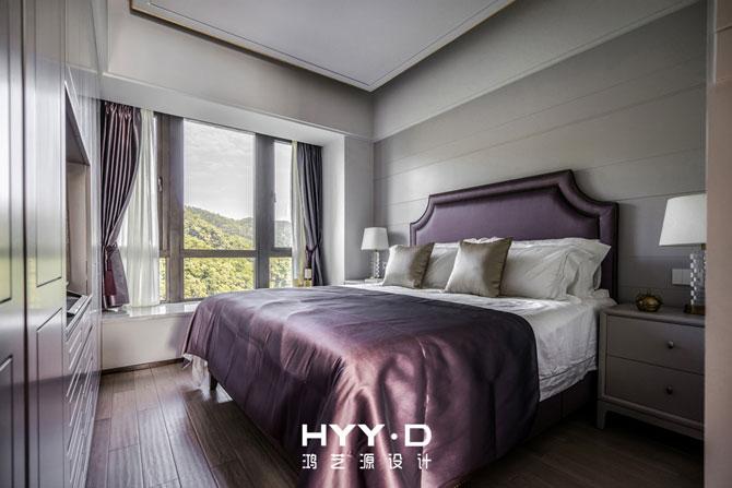 简约 别墅 室内设计 客房 港式轻奢 卧室图片来自郑鸿在都市型格--深圳山语清晖室内设计的分享