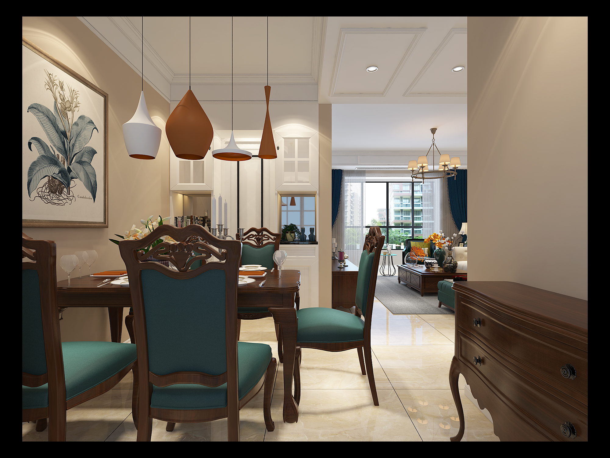 简约 美式 简美 三居 白领 小资 餐厅图片来自众意装饰 李潇在天浩上元郡简美风格案例的分享