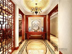 中式 四居 大户型 跃层 复式 别墅 80后 小资 玄关图片来自高度国际姚吉智在200平米新中式大平层独领风骚的分享