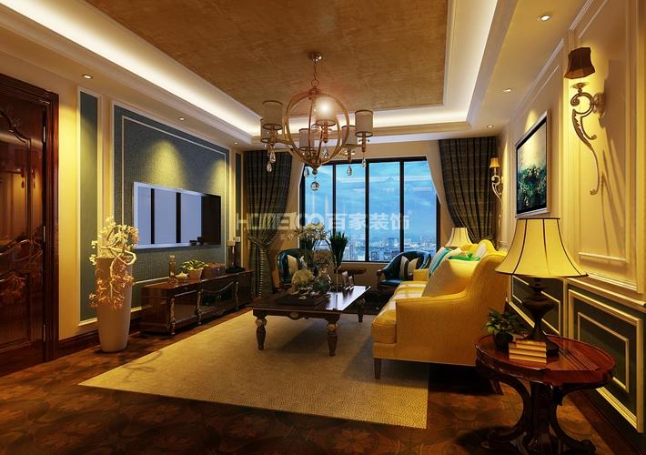 三居 万锦香樟树 北美风格 客厅图片来自百家设计小刘在中海国际167平新中式风格的分享