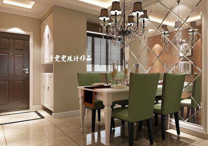 百家装饰 和平之门 沈阳装修 115平 效果图 餐厅图片来自百家装饰--小莹在百家装饰-中海和平之门-简欧风格的分享