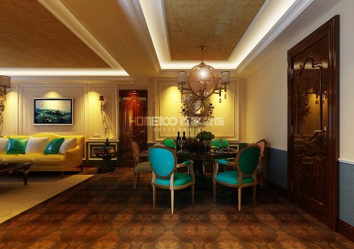 三居 万锦香樟树 北美风格 餐厅图片来自百家设计小刘在中海国际167平新中式风格的分享