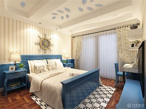 地中海 二居 80后 小资 白领 卧室图片来自阳光力天装饰在力天装饰-恒益龙庭-84㎡-地中海的分享