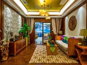 新古典 三居 大户型 收纳 80后 小资 东南亚 客厅图片来自高度国际姚吉智在143平米东南亚风格迷人异域美感的分享