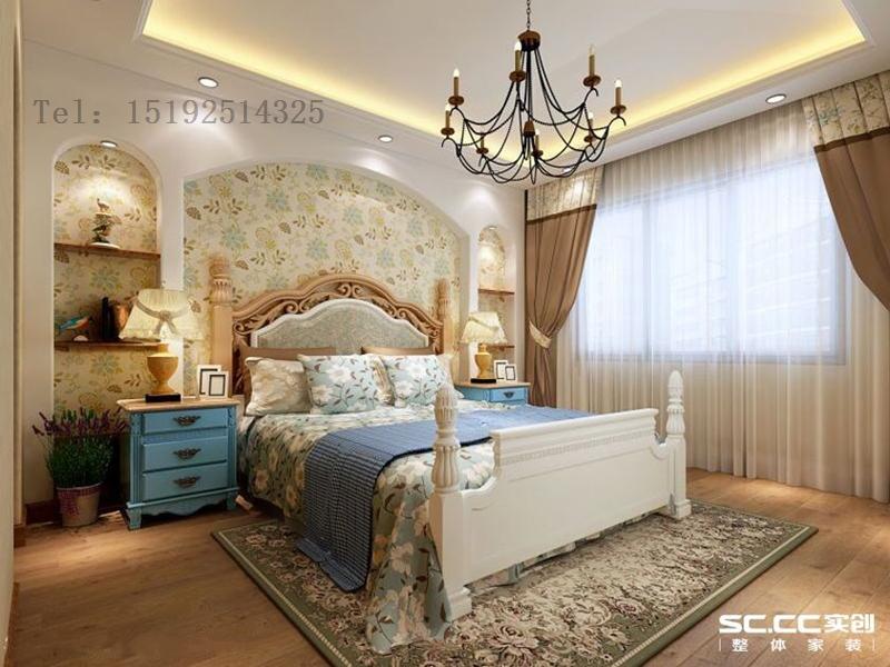 别墅 明德小镇 实创 地中海 卧室图片来自快乐彩在明德小镇小独栋244平地中海的分享