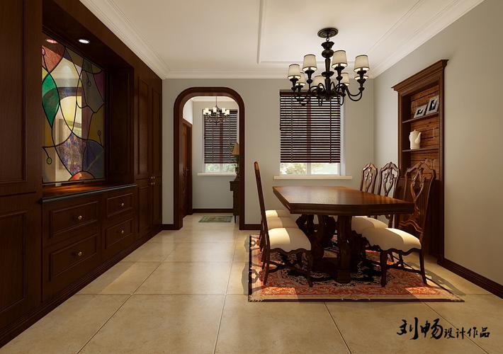 餐厅图片来自沈阳百家装饰小姜在百家装饰龙湖花千树美式风格的分享