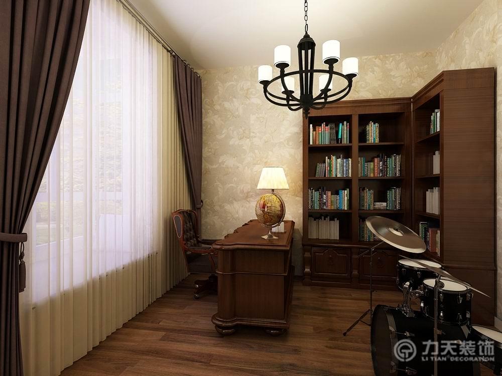 二居 新古典 白领 80后 小资 书房图片来自阳光力天装饰在力天装饰-龙湾城-120㎡-新古典的分享