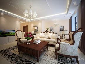 二居 新古典 白领 80后 小资 客厅图片来自阳光力天装饰在力天装饰-龙湾城-120㎡-新古典的分享