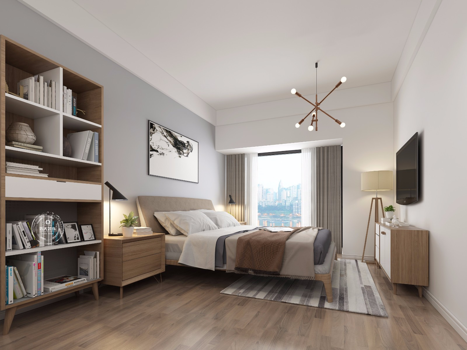 三居 卧室图片来自深圳浩天装饰在浩天装饰-壹城中心的分享