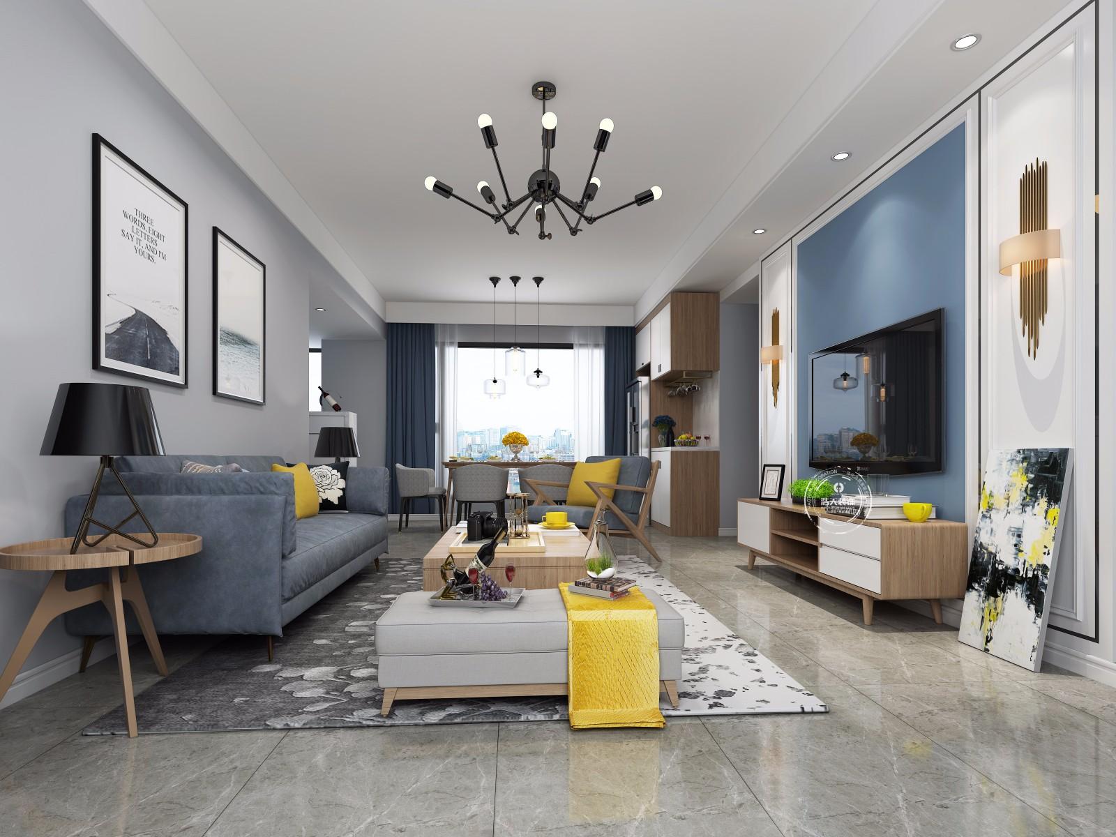 三居 客厅图片来自深圳浩天装饰在浩天装饰-壹城中心的分享