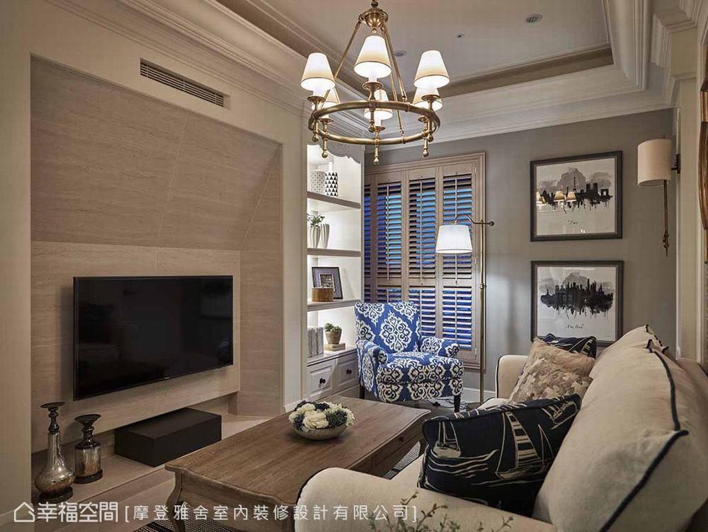 二居 美式 小户型 客厅图片来自幸福空间在美式摩登感 风水宅也能很精品的分享
