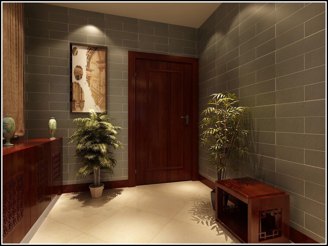 中式 南北通透 施工工地 玄关图片来自广西品匠装饰集团在江川悦城中式风格的分享