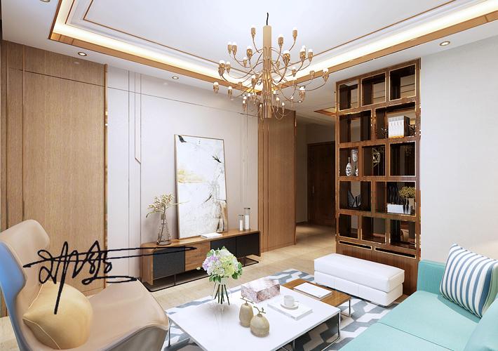二居 万锦紫园 现代风格 客厅图片来自百家设计小刘在万锦紫园77平现代风格半包3万的分享