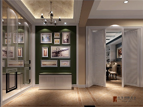 美式 二居 三居 白领 收纳 旧房改造 80后 小资 玄关图片来自高度国际姚吉智在104平米简美风定义生活新格调的分享