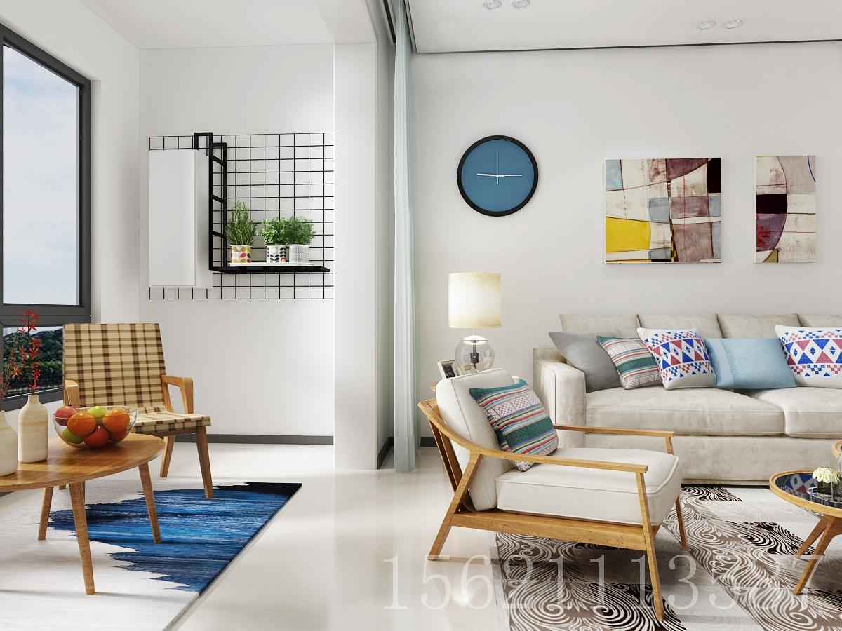 北欧风格 三居室 客厅图片来自阔达装饰小段在汶水路老房改造 北欧风格的分享