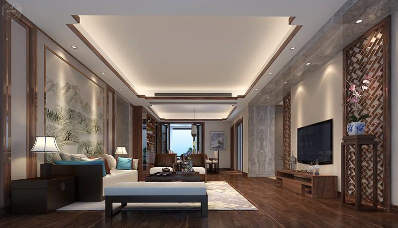 客厅图片来自深圳浩天装饰在浩天装饰-香格名苑的分享