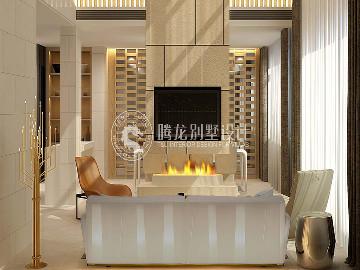 华润中央公园350平别墅现代风格