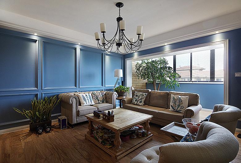 客厅图片来自家装大管家在缔造时尚 158平美式混搭时尚居的分享