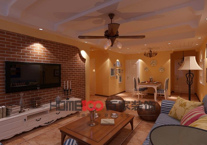 三居 客厅 餐厅图片来自百家装饰小西在奉天九里125平地中海风格的分享
