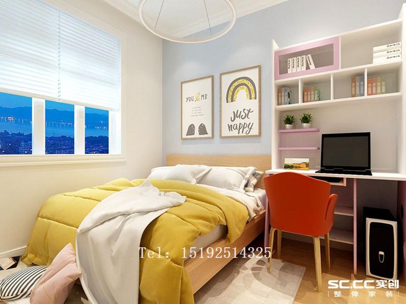 二居 简约 实创 青岛 二手房 老房 翻新 卧室图片来自快乐彩在青岛老房子改造95平二居室装修的分享
