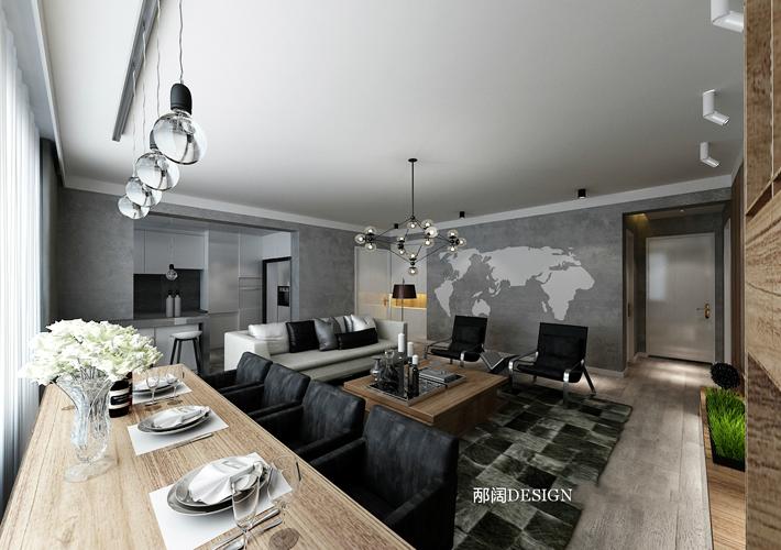 三居 浦江御景湾 混搭风格 餐厅图片来自百家设计小刘在浦江御景湾136平混搭风格的分享