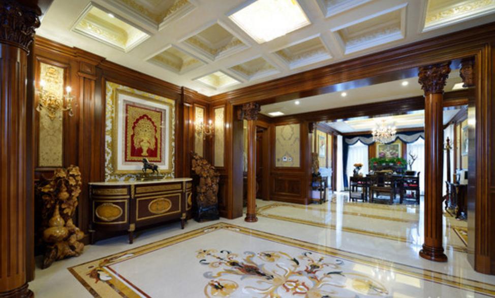 东郊罗兰 东方别墅 美式风格 腾龙设计 刁振瑛作品 客厅图片来自刁振瑛在东方别墅美式完工实景展示的分享