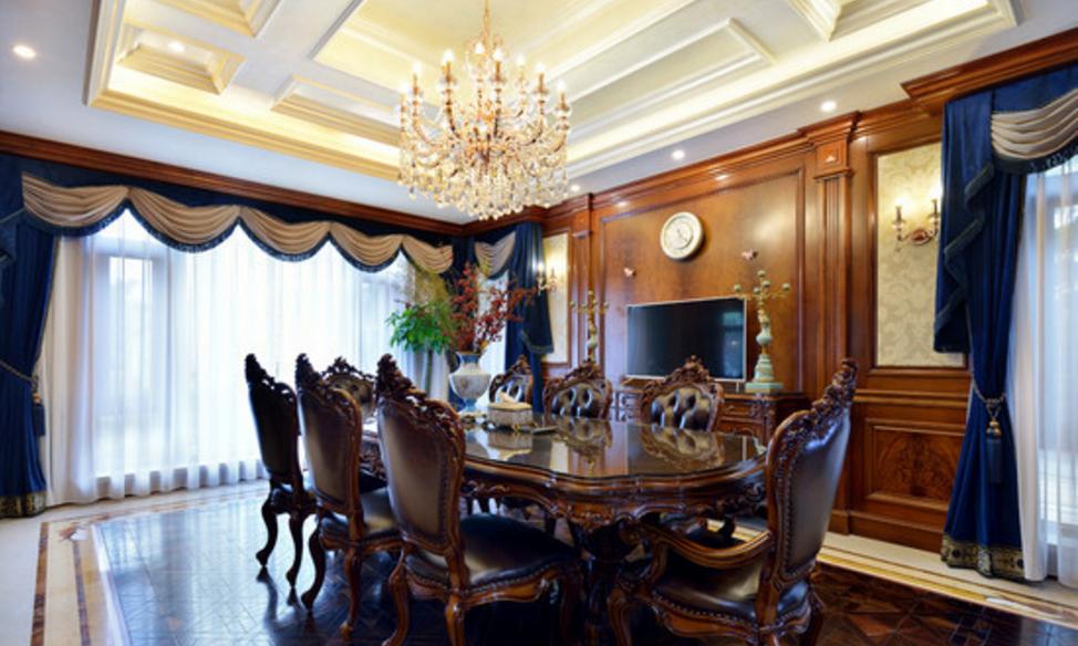 东郊罗兰 东方别墅 美式风格 腾龙设计 刁振瑛作品 餐厅图片来自刁振瑛在东方别墅美式完工实景展示的分享